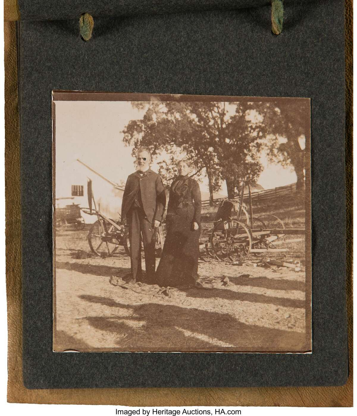 One of the items up for auction is a family photo album.The photographs depict individuals thought to be John Ernst Steinbeck (1862-1935) and his wife, Olive (1867-1934), along with various other members of the Steinbeck family.