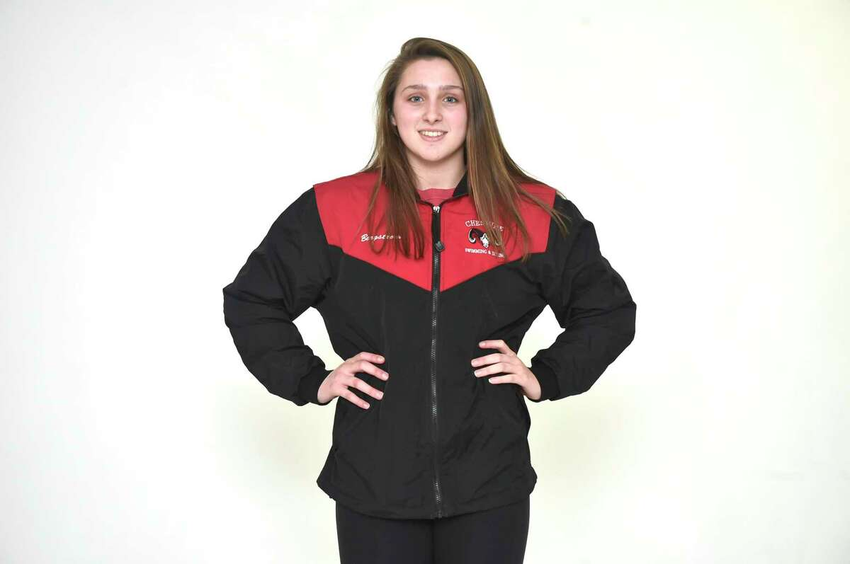 New Haven, Connecticut - Tuesday, December 4, 2018: All-Area Swimming: Nora Bergstrom, Cheshire H.S.