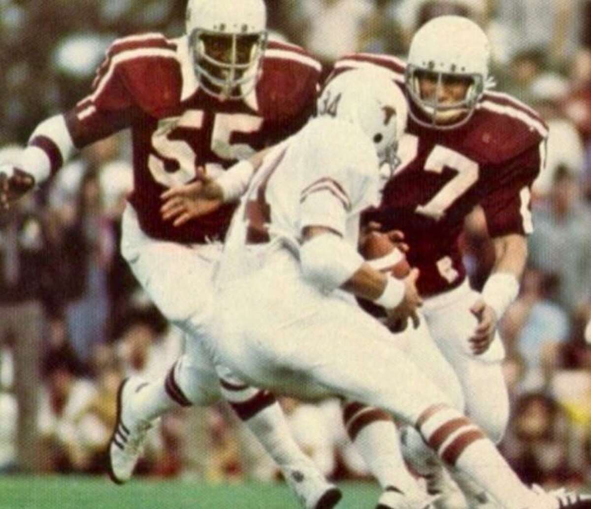 Beating Texas in 1975 was a big moment for Ed Simonini (77) and the Aggies.