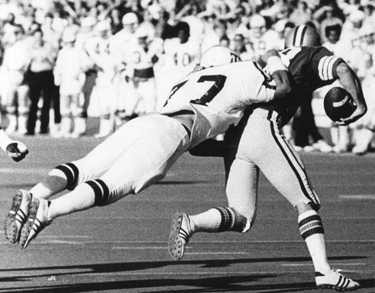 Ed Simonini, Texas A&M linebacker from 1972-75, led a defense that was No. 2 in nation in 1974.