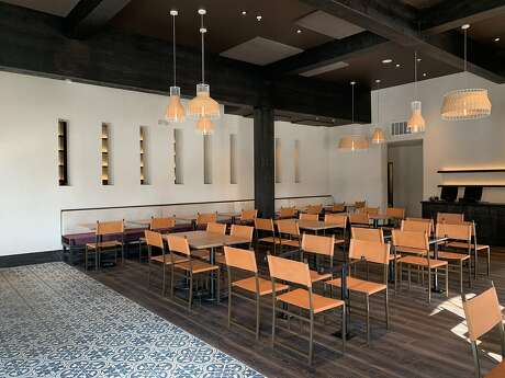 Inside the new Aziza in San Francisco's Outer Richmond neighborhood.