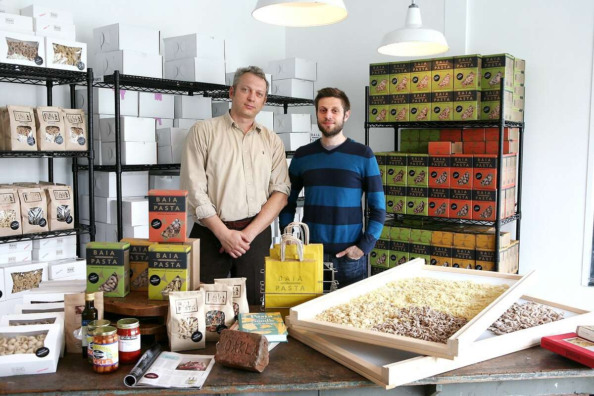 Baia Pasta, founded by Renato Sardo (left) and Dario Barbone, specializes in brass-extruded and artisanal produced pasta.