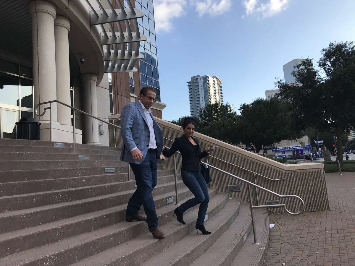 Jeff Bagwell photographed outside the courtroom following the jury's verdict on Tuesday, October 1, 2019 that he owes a landscaper for an unpaid debt for yard work at his home. Bagwell argued the landscaper overcharged him due to his wealth.
