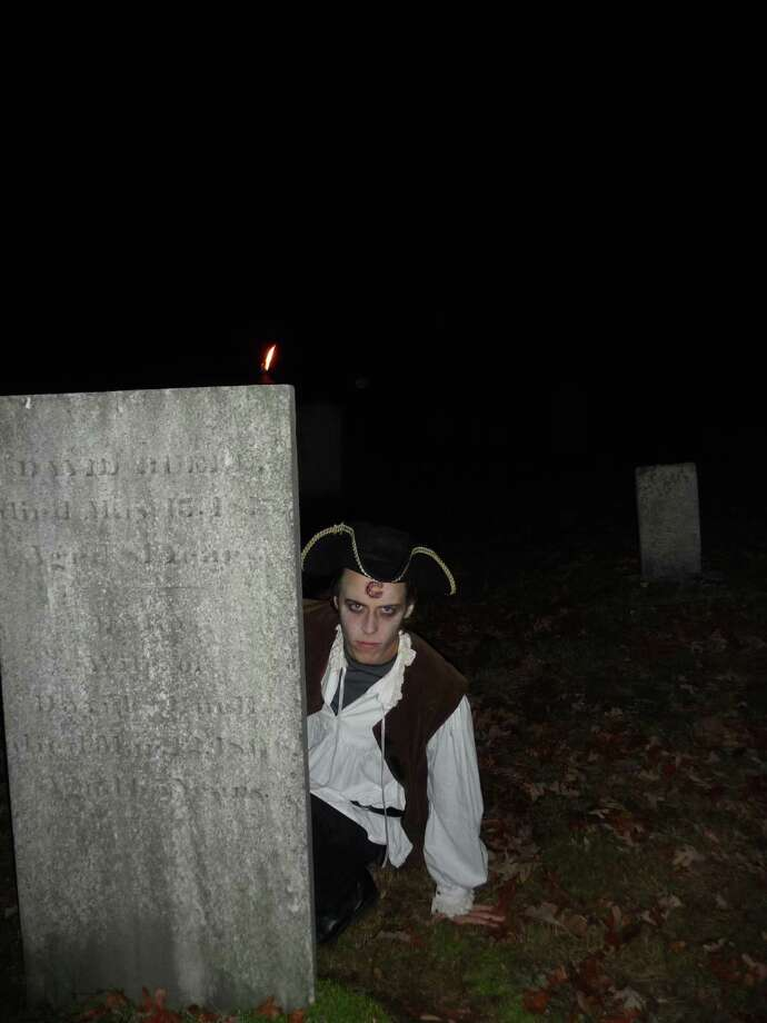 """Thrills and frights awake all who dare to join this year's annual Halloween """"Ghost Walks"""" sponsored by the Clinton Historical Society. Photo: Clinton Historical Society / Contributed Photo"""