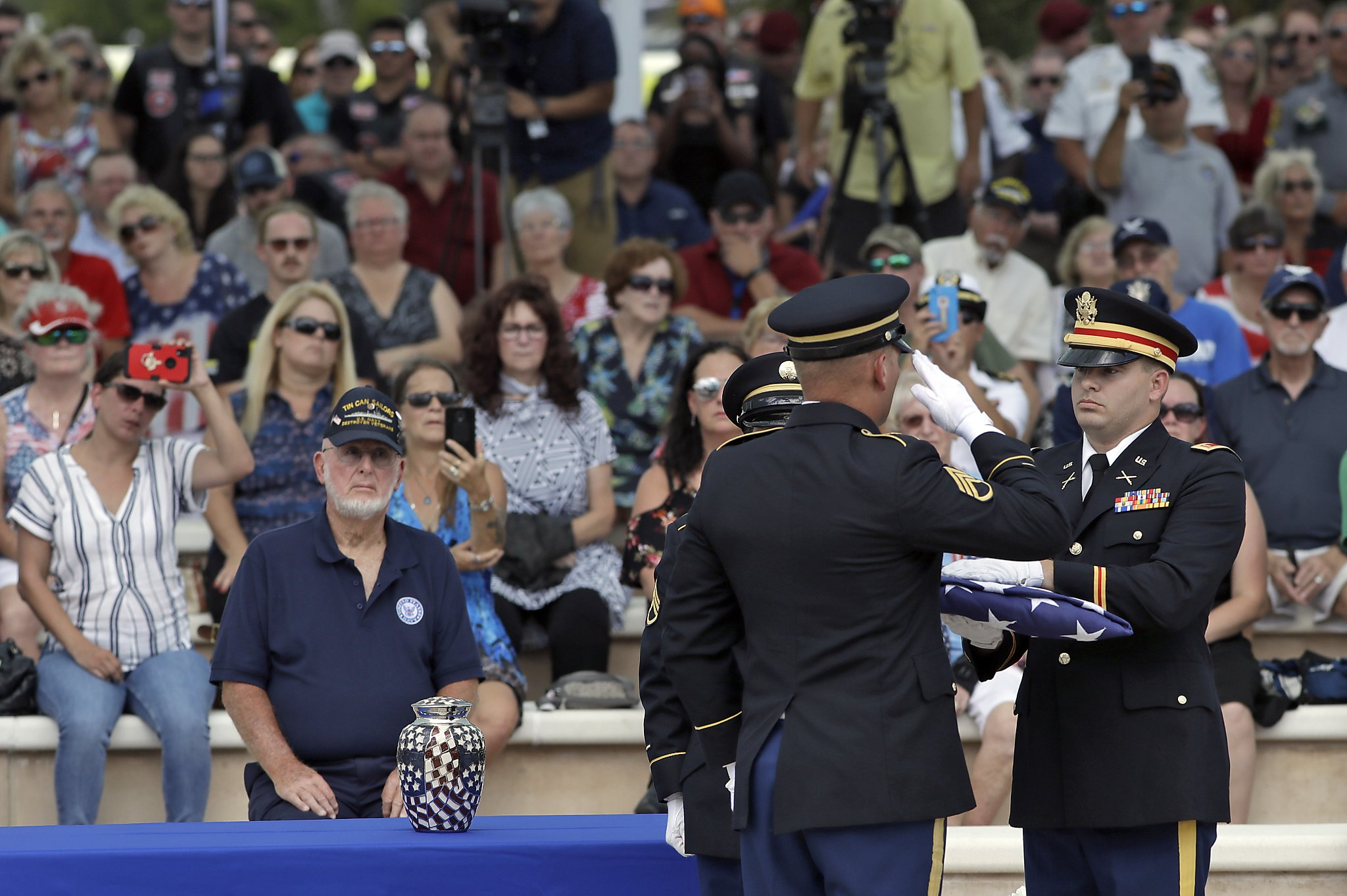 Thousands showed up for the funeral of a veteran with no family. Then the truth came out.