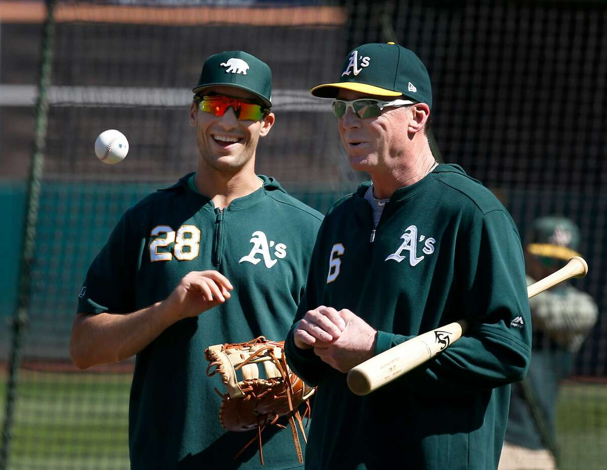 A's manager Bob Melvin reached out to Matt Olson when the latter was in the minor leagues and offered him encouragement.