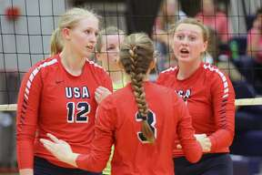 The USA Patriots picked up a straight set sweep of Bad Axe on Tuesday, Oct. 1.