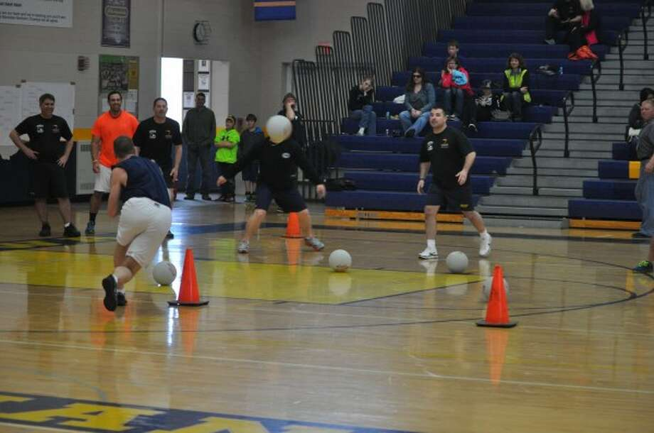 Nine teams competed in a Law Enforcement Torch Run for Special Olympics dodgeball tournament on Saturday at the Manistee High School.