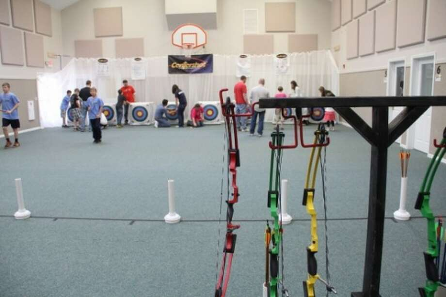 Youth participate in Centershot at Faith Covenant Church in Manistee during 2013. (Courtesy photo)