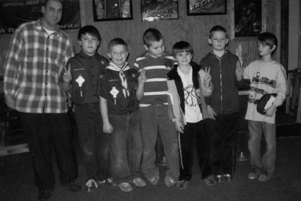 Courtesy Photo / News Advocate Members of the Bear Scouts Troop 269 (pictured) attended a bowling outing on Jan. 17 at Striketown in Manistee. The group, of about 20, consists of third graders from various schools in the Manistee area.