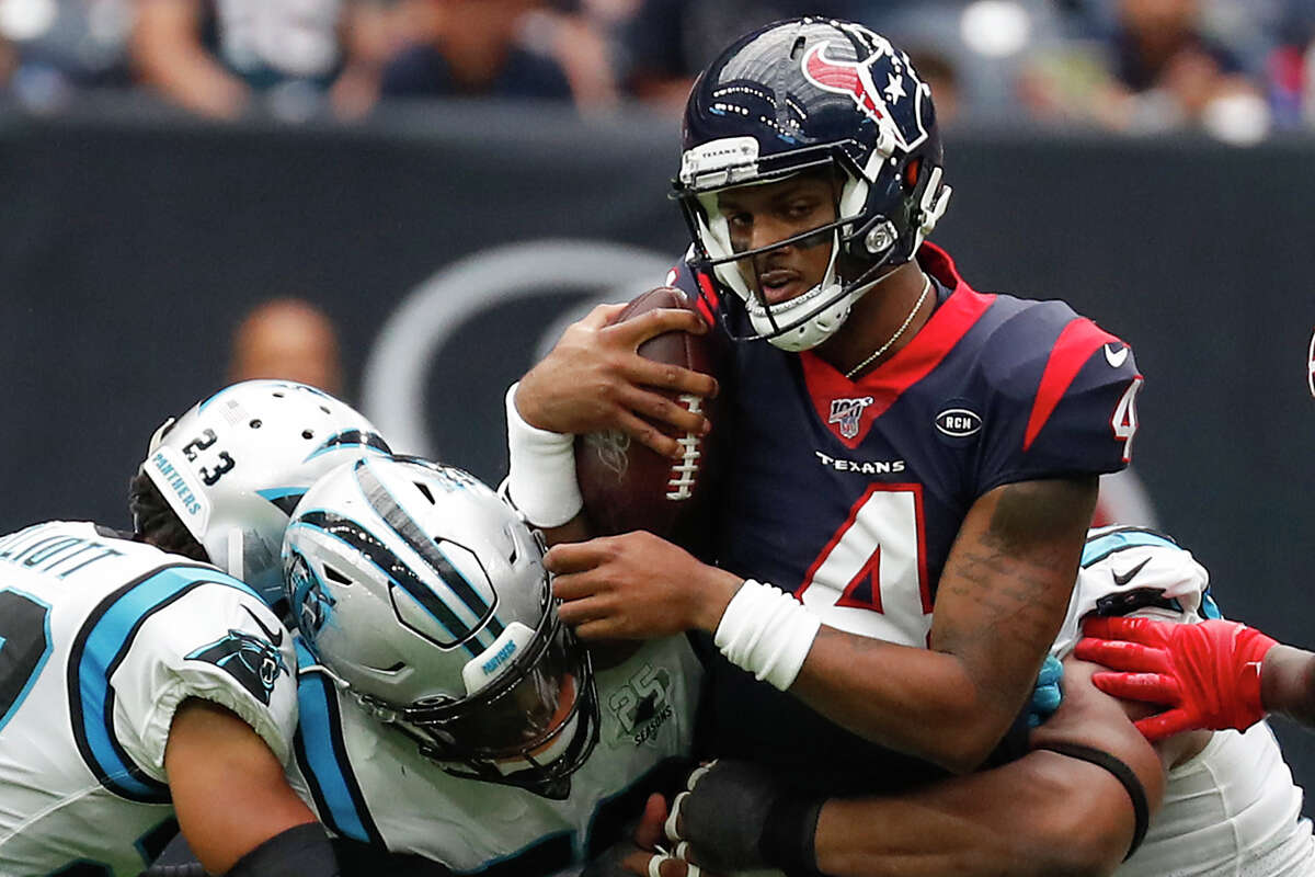 Some Texans fans are upset with what they view as Deshaun Watson's propensity to hold the ball too long, resulting in sacks. The Texans have allowed the third-most in the NFL this season.