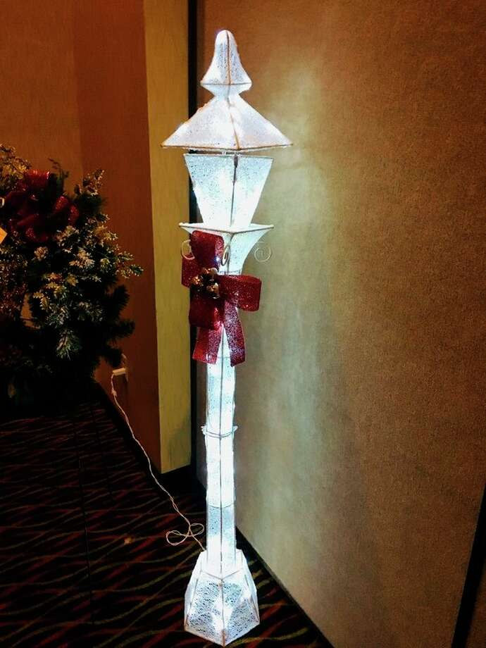 Unique holiday décor like this ornate lamppost will be created and donated to the Festival of Trees fundraising auction that will occur Nov. 6. (Courtesy photo)
