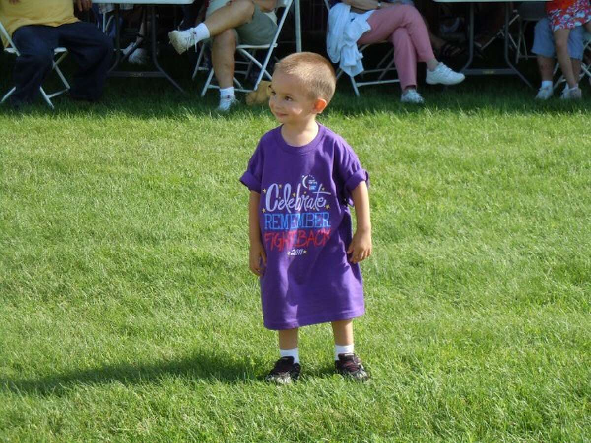 Noah Vasquez, 3, smiles while participating in the 2011 Relay for Life of Manistee County. (Courtesy photo)