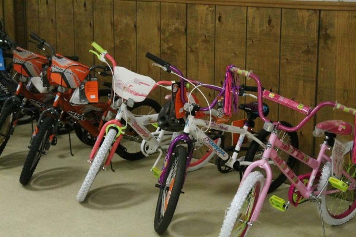 Bicycles donated will be raffled off to participating families after the initial toy distribution is done. (Sean Bradley/News Advocate)