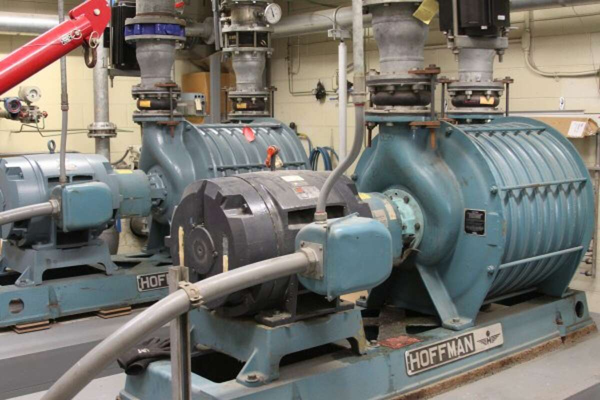 The City of Manistee Department of Public Works will work to categorize every item at its wastewater treatment plant, such as the Hoffman and Lamson brand blowers as well as other assets within the city limits including fire hydrants and manholes, due to receiving a $1,905,000 Stormwater, Asset Management and Wastewater (SAW) grant from the Michigan Department of Environmental Quality. The city will receive $1,757,500 but it will provide a local match of $147,500 toward the grant, bringing the total to $1,905,000. The city applied for the grant in 2013. (News Advocate File Photo)