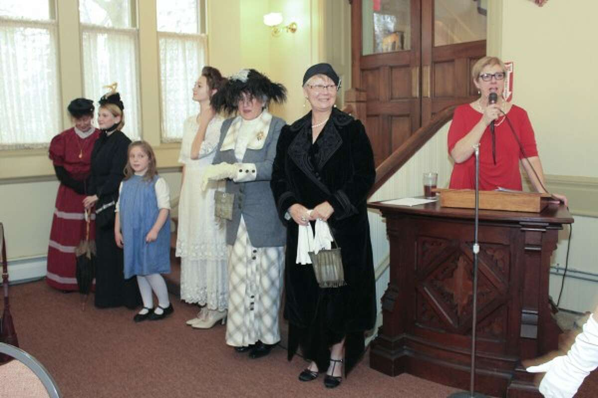 Models in the Lakeside Club's 130th anniversary fashion show Saturday at the First Congregational Church showcased fashions from the club's existence when it was founded in 1885 to the present. (Courtesy Photo/News Advocate)