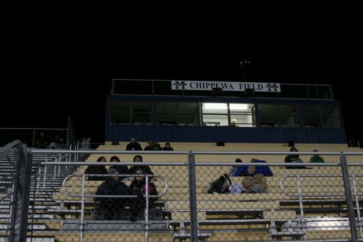 Fans and spectators cheered on the players as play-by-play commentary was provided. The field and facilities were provided free-of-charge for the game by Manistee High School. (Sean Bradley/News Advocate)