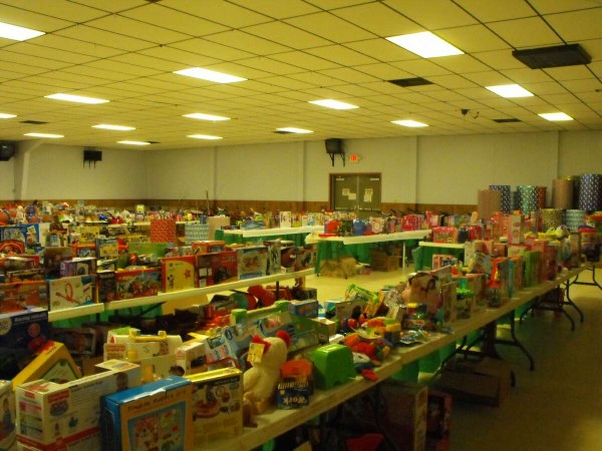 Thousands of toys were donated to the FiveCAP Toys for Tots/Gifts for Teens drive, which were distributed to hundreds of families Wednesday and today at the Manistee VFW Walsh Post No. 4499. (Courtesy Photo/News Advocate)