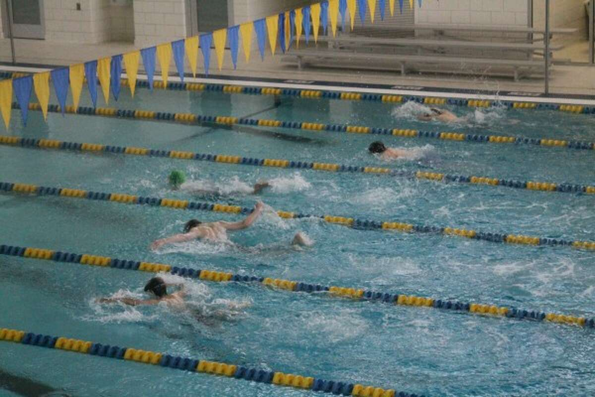 During the Bob Olsen Swim Show on Saturday, swimmers had the chance to try out different events than they normally would swim during a meet.