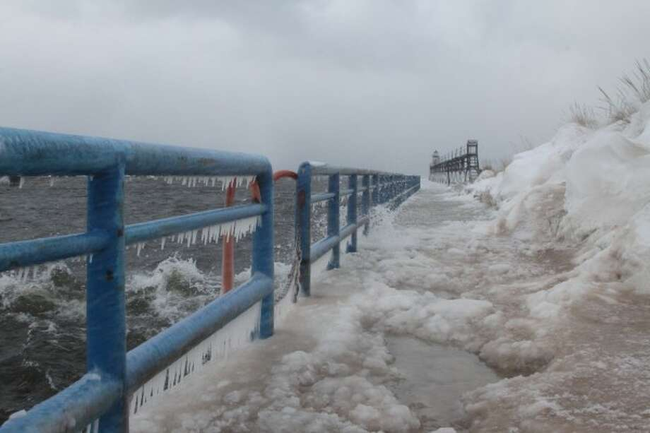 The U.S. Coast Guard Station Manistee is asking the public to stay off the Manistee North Pier Head. (Dylan Savela/News Advocate)