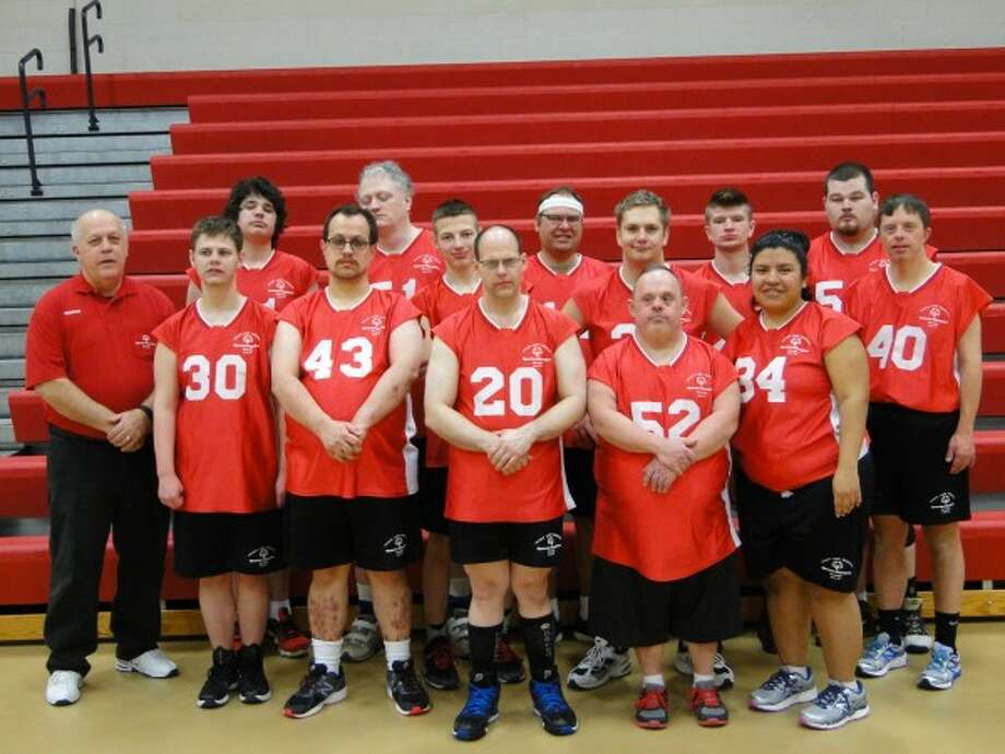 Red Devils front row left to right: Coach Grant Griswold, Cody Fleetwood, Alfred Finner, Mike Witkowski, Jim Treml and Guadalupe Covarrubias. Second row from left to right: Dakota Wallager, Logan Grabowski and Cary Dodson. Back row: Jayden Chosa, Paul Lefler, Justen VanDrie, Leonard Picket and Tom England. (Absent from picture are Coaches Bob Grabowski and Alie VanderHaag) (Courtesy Photo/News Advocate)