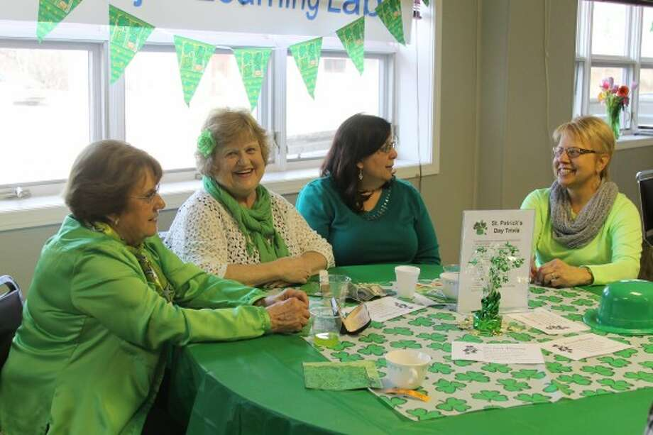 On Thursday, the Manistee County Senior Center hosted patrons clad in green as lunch was served. (Dylan Savela/News Advocate)