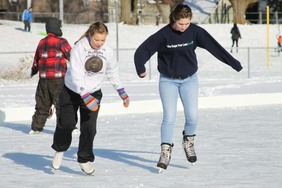 The Sands Park ice rink, which opened in January, saw many patrons take advantage of it. (News Advocate File Photo)