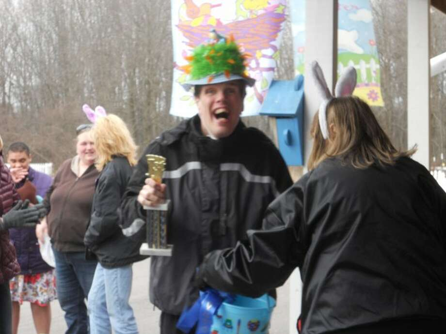 Jimmy won first place in the bonnet contest held last week at the Circle Rocking S Children's Farm during its annual Easter egg hunt and bonnet contest event. (Courtesy Photo/News Advocate)