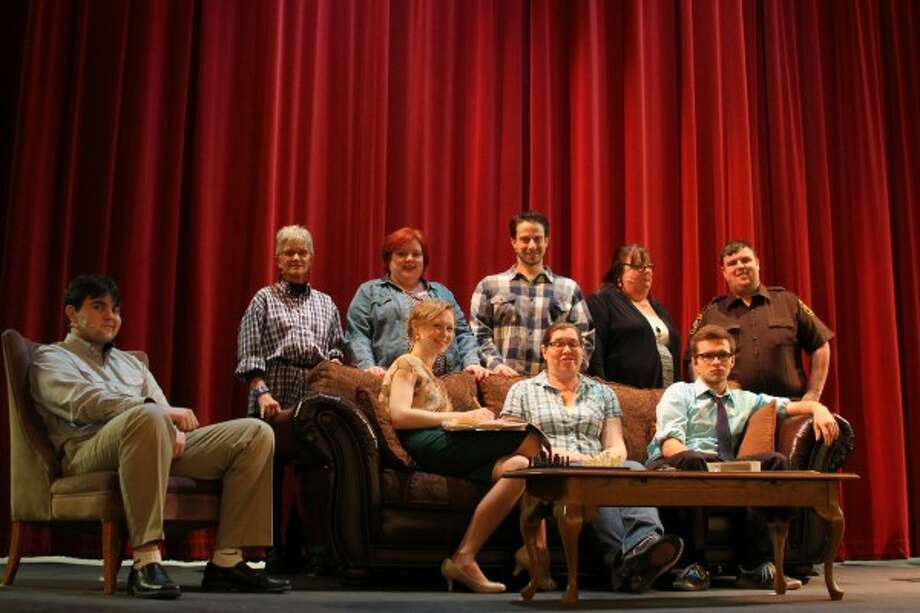 """The cast of the Manistee Civic Players' production of """"Death and Taxes,"""" which premieres at 7 p.m. on Friday at the Ramsdell Theatre in Manistee. (Sean Bradley/News Advocate)"""