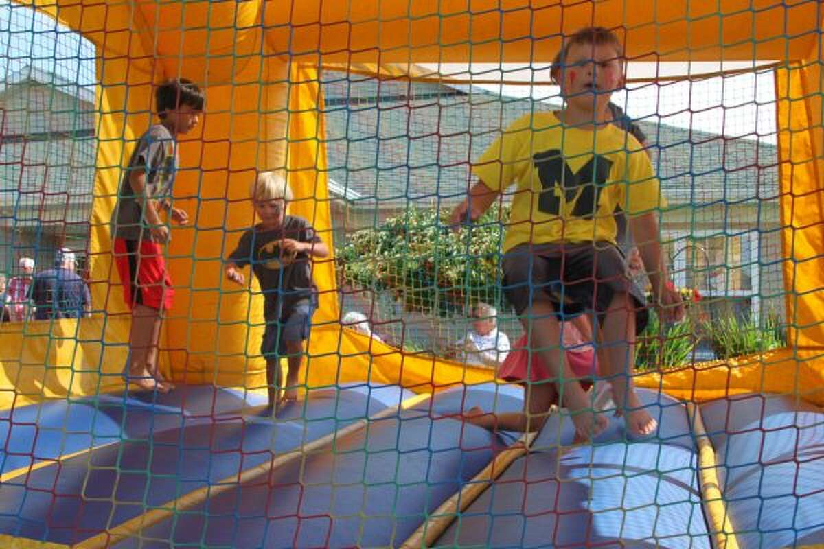 The bounce house was a big hit during the Green Acres community carnival on Thursday afternoon. (Dylan Savela/News Advocate)
