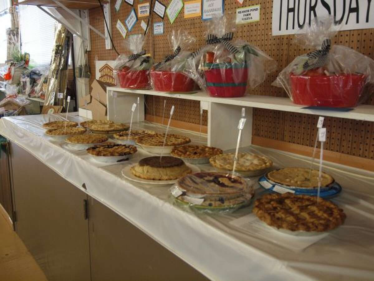 The Manistee County Fair saw 20 entries on Thursday for the ever-popular annual Pie Baking Contest. The desserts were judged on appearance, ingredients, crust and taste. (Photos by Diana Six/Courtesy photo)