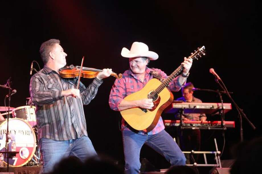 Country musician Tracy Byrd (right) performed on Saturday at Little River Casino Resort. (Michelle Graves/News Advocate)