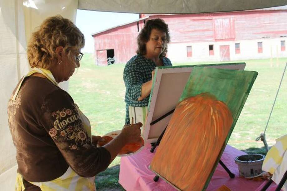 About 20 women participated in an afternoon painting class on Saturday at Douglas Valley Winery. (Photos by Michelle Graves/News Advocate)
