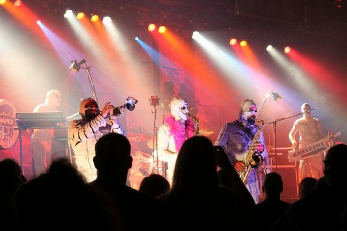 Here Come the Mummies performed in front of a packed crowd on Saturday at Little River Casino Resort. (Michelle Graves/News Advocate)