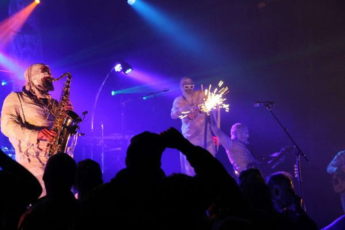 """Here Come the Mummies performed songs such as """"My Party,"""" """"Friction"""" and """"Bring that Down"""" on Saturday at Little River Casino Resort. (Michelle Graves/News Advocate)"""