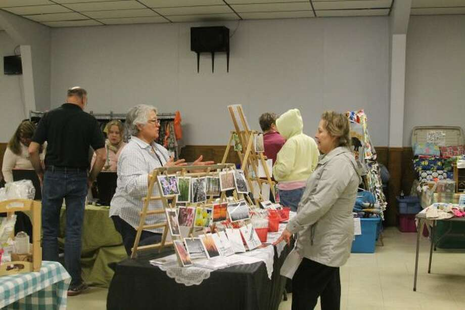 About 50 vendors were selling their wares on Saturday during the annual VFW Auxiliary Spring Bazaar. (Michelle Graves/News Advocate)