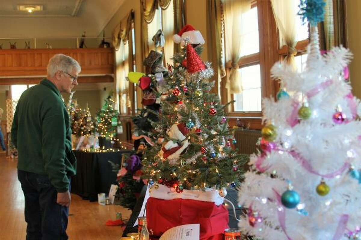 The Festival of Trees was held at the Ramsdell Theatre this year, where the Manistee Area Chamber of Commerce saw plenty of visitors and donations to charity. (Ashlyn Korienek/News Advocate)