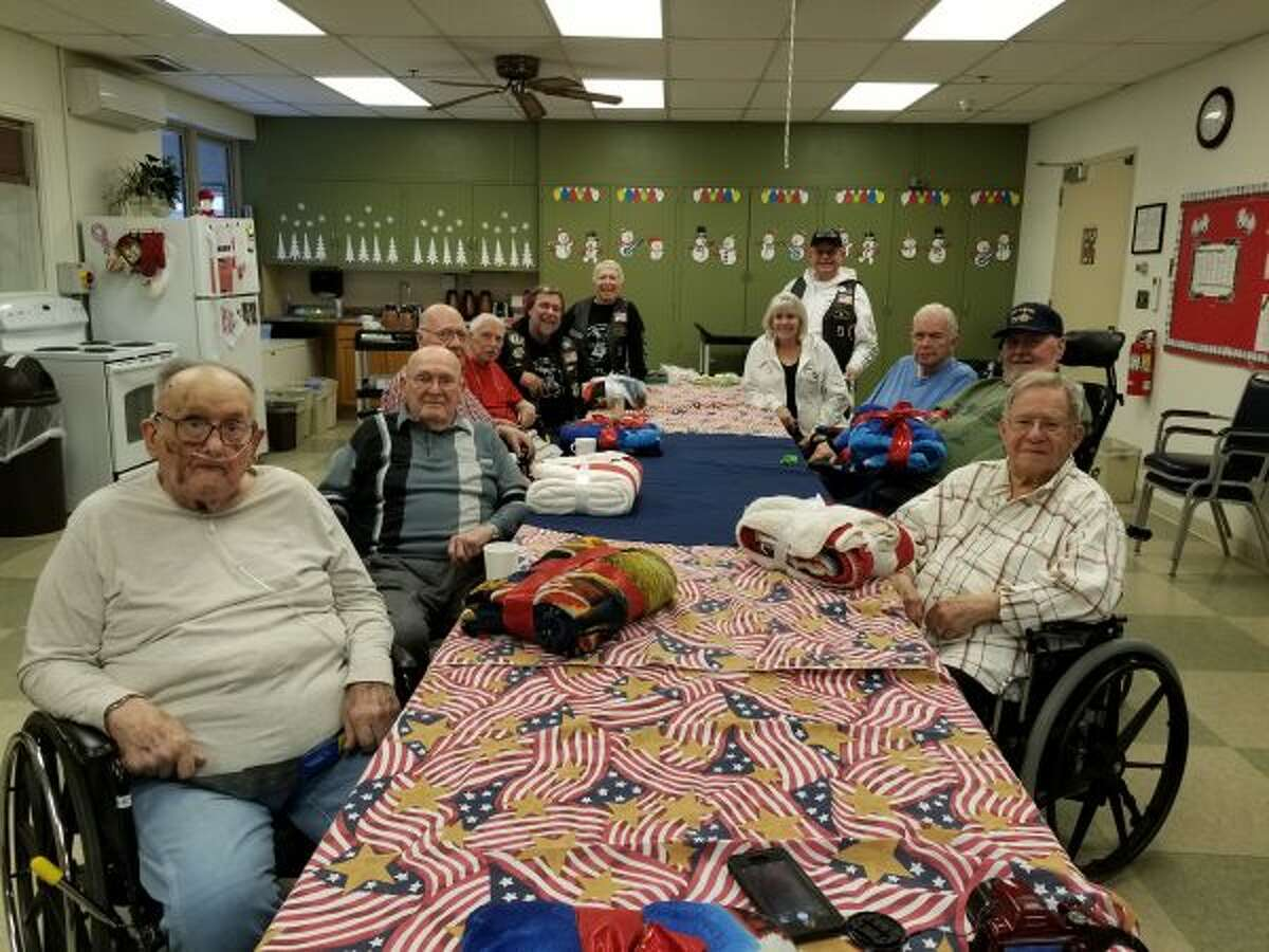 Local veterans received Christmas gifts from Rolling Thunder Inc, Michigan Chapter 1 recently. (Courtesy photo)