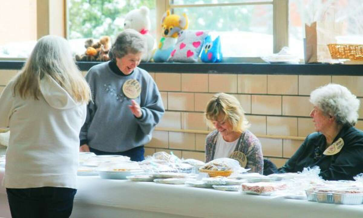 Many goodies were for sale at Trinity Lutheran's Harvest and Luncheon on Saturday. (Ashlyn Korienek/News Advocate)