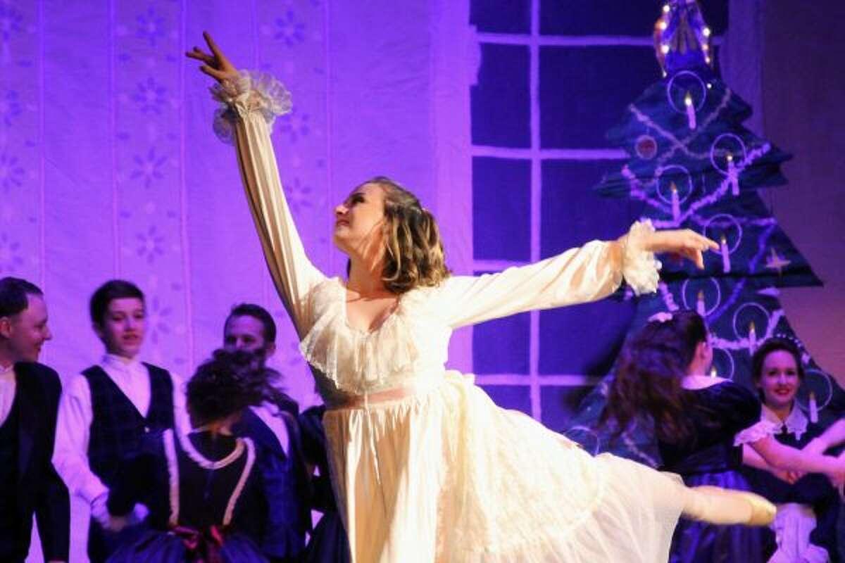 "Dancers prepare for the debut of ""The Nutcracker Ballet."" (Ashlyn Korienek/News Advocate)"
