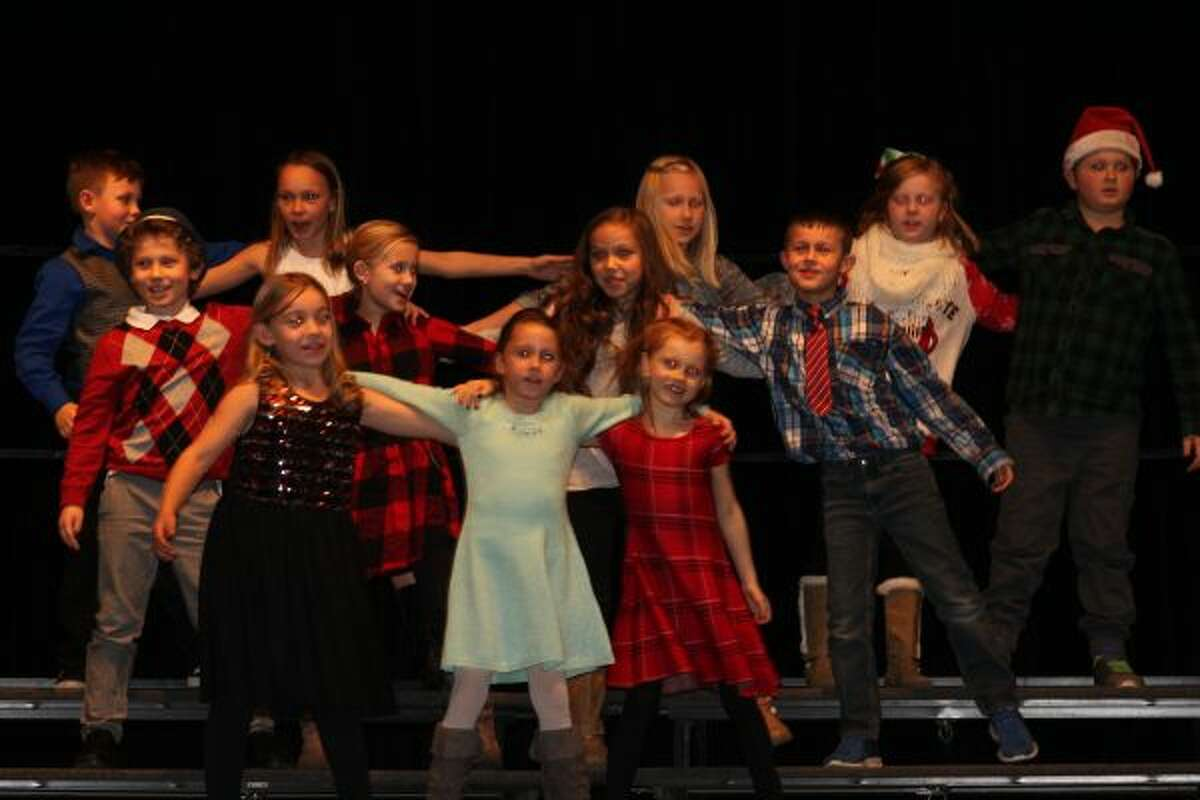 Ms. Higley's second grade class performed Nice Nice Christmas at Bear Lake School's annual Christmas sing. (Jane Bond/News Advocate)