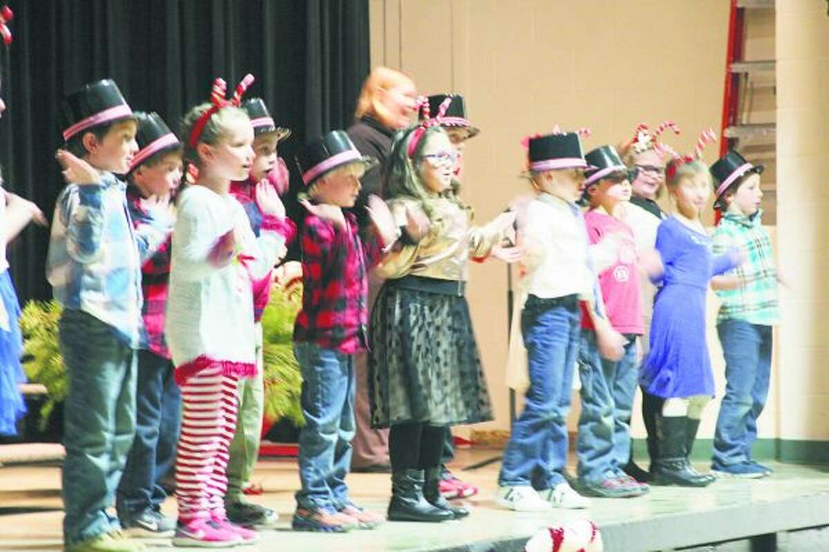Students at Bear Lake School from kindergarten through sixth grade performed several holiday favorites during their annual Christmas sing. (Jane Bond/News Advocate)