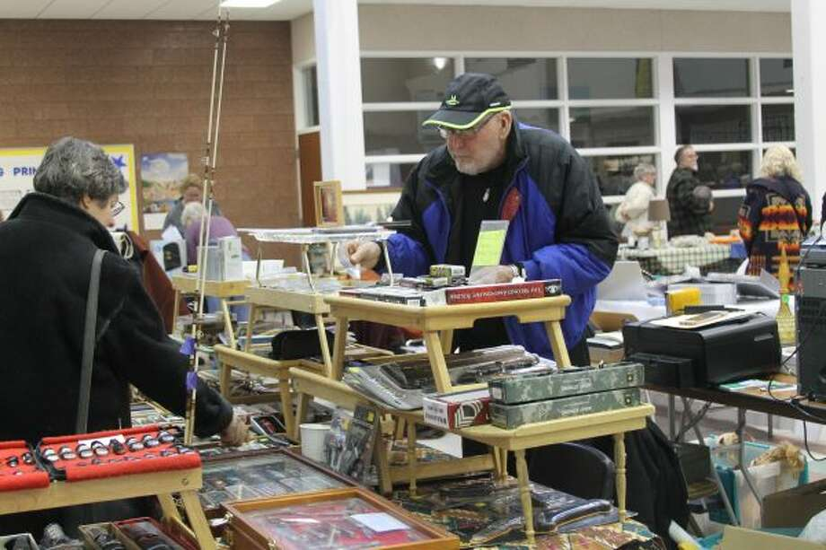 There were over 50 booths for people to check out on Saturday during the Cabin Fever Reliever Sale hosted by the Manistee News Advocate at Manistee High School. (News Advocate photo) Click through for more photos