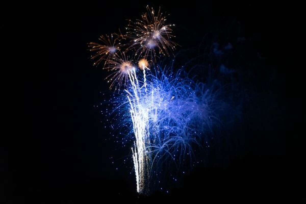 Thousands of people turned out on Thursday night for the Manistee National Forest Festival fireworks, which were shot off over Lake Michigan. (Ashlyn Korienek/News Advocate)