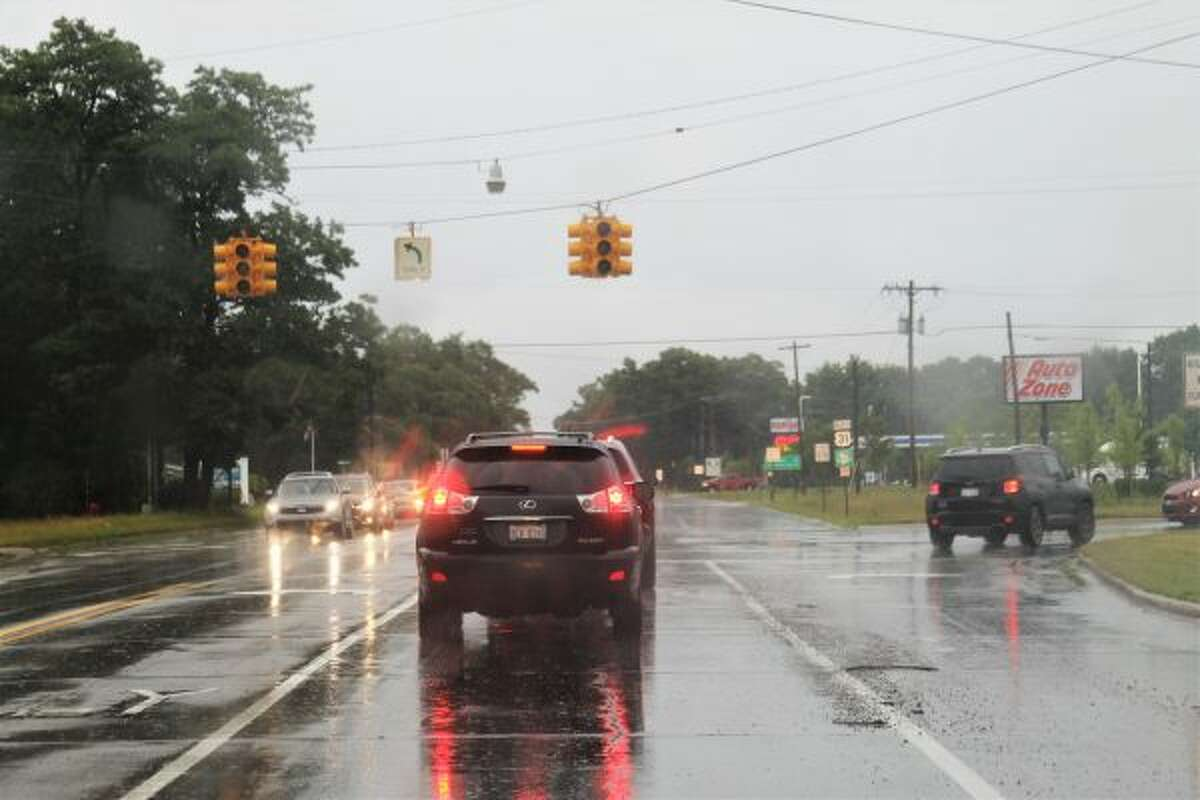 A flash flood and high winds in Manistee County led to power outages in the area. (Ashlyn Korienek/News Advocate)