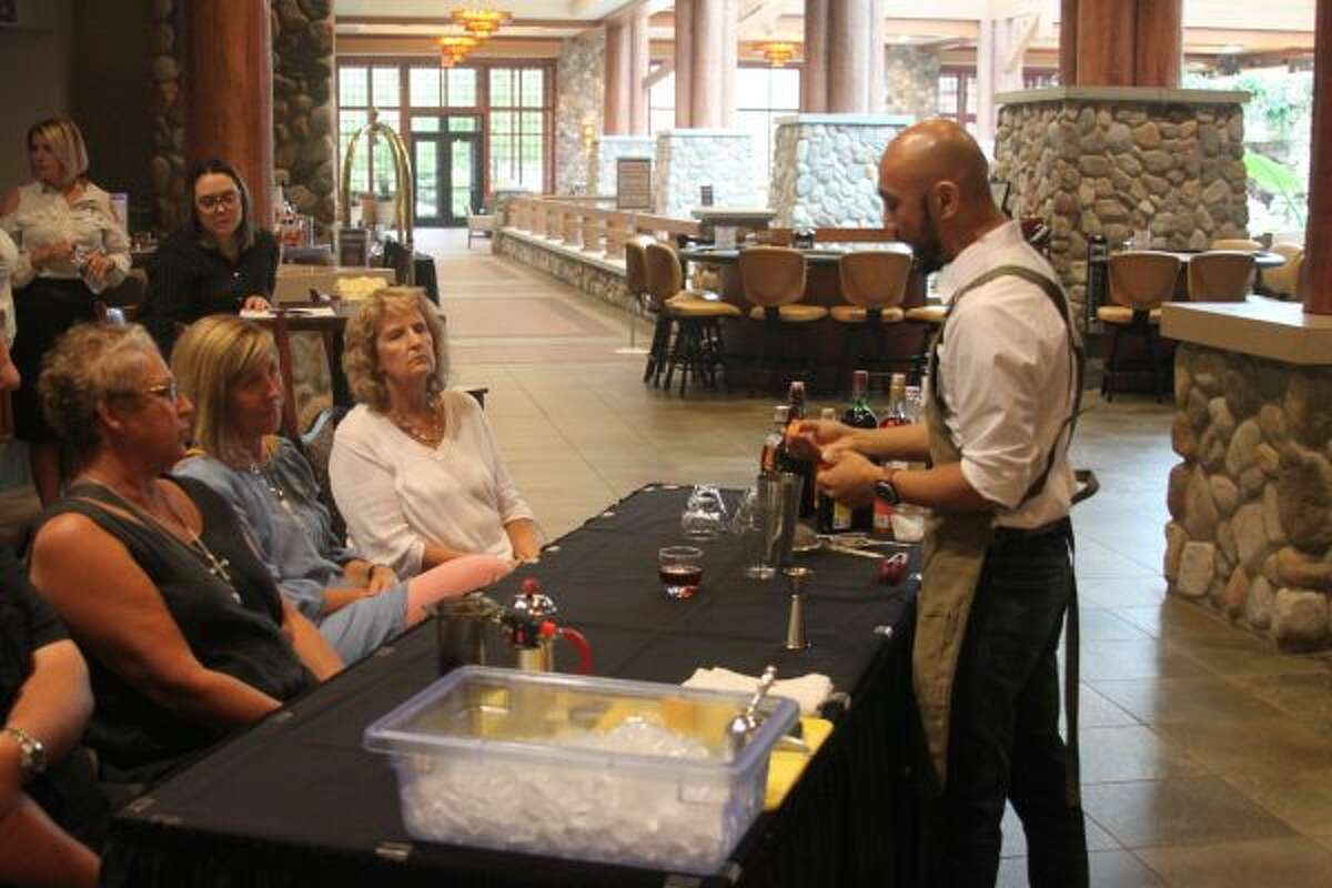 The Little River Casino Resort held a Spirited Coffee Gathering competition on Saturday that celebrity judge and former Manistee resident Matt Foster. Contestants were challenged to create the best hard coffee drink. Foster who was the 2019 first place winner of the U.S. Coffee in Good Spirits Championship showed those in attendances how to create some of his favorite drinks. (Ken Grabowski/News Advocate) ***CLICK THROUGH FOR MORE PHOTOS***