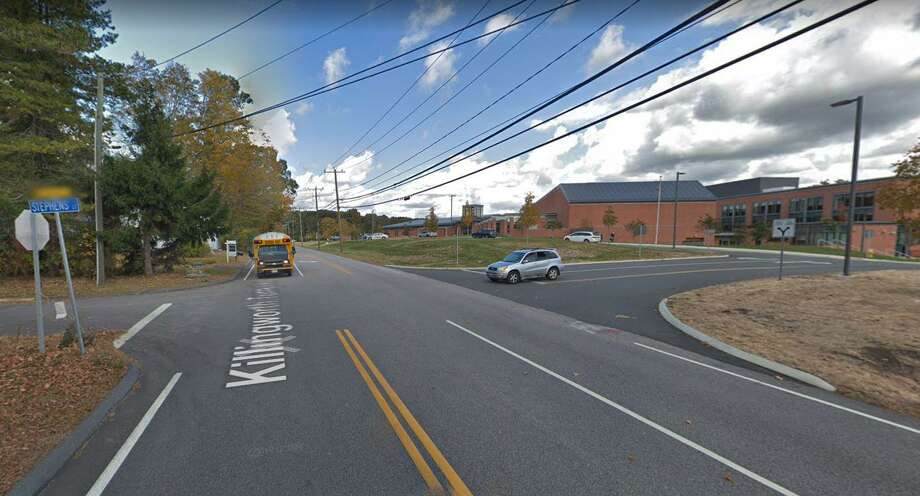 Police have two people in custody following a hit-and-run accident on Route 81 on Tuesday, Oct. 1, 2019 in Clinton. As the officer was trying to render aid to the occupants of the car that was struck, a second off-duty officer spotted the other car with heavy damage by Morgan School, police said. The occupants of the car that fled left the vehicle on foot, leaving behind a loaded handgun, reports said. The two were later captured. Photo: Google Street View