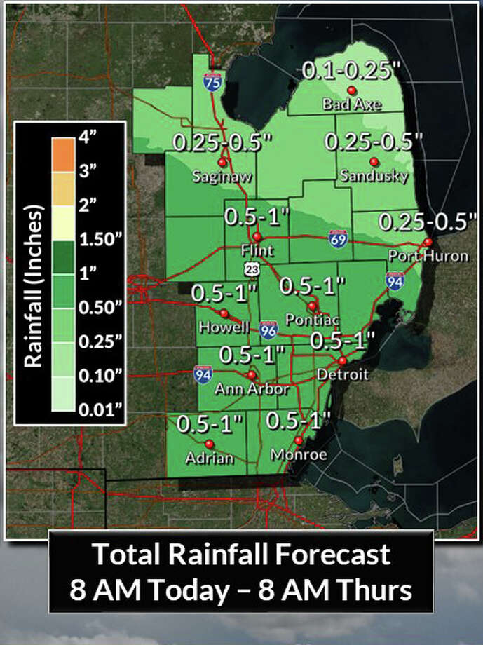 A flood watch remains in effect through Wednesday afternoon. Photo: National Weather Service