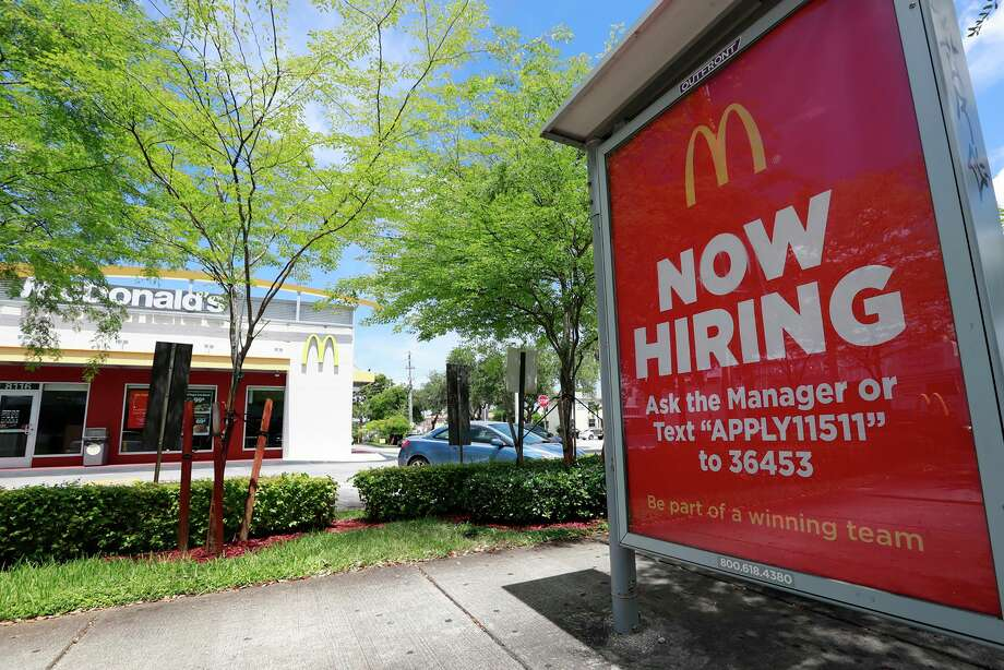 Businesses added 135,000 employees nationally in September, according to payroll data analyzed by ADP and Moody's Analytics, about 22,000 fewer than the net gain in August. (AP Photo/Wilfredo Lee, File) Photo: Wilfredo Lee / Associated Press / Copyright 2019 The Associated Press. All rights reserved