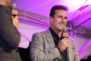 Actor Jon Hamm was the honored guest at the Mark Twain Library's Pudd'nhead gala on Saturday, Sept. 28, 2019 in Redding, Connecticut.
